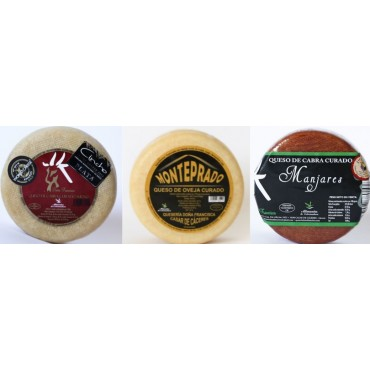 Lote 3 quesos (Manjares, Monteprado, Sudao)