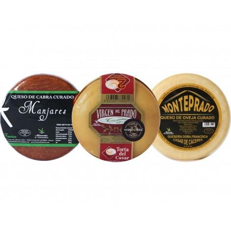 Lote 3 quesos M (Torta, Monteprado, Manjares)